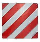 Warntafel Warnfolie Pflicht in Italien aus Aluminium reflektierend 500x500mm rot-weiß Warnschild für Auto Fahrradträger Wohnmobil