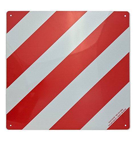 Preisvergleich Produktbild Warntafel Italien Aluminium reflektierend 500x500mm rot-weiß