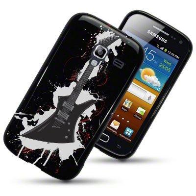 Samsung Galaxy Ace 2 / i8160 Case / Cover / Custodia / Skin TPU Gel - Disegno Chitarra Nero