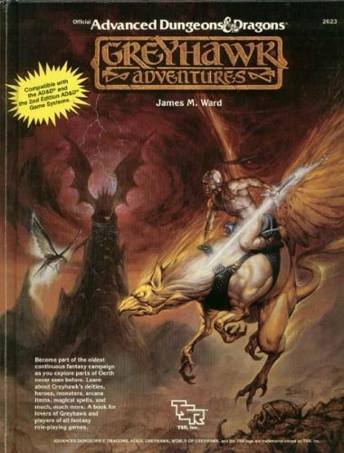 By Ward, James M. Greyhawk Adventures (Advanced Dungeons & Dragons Rulebook) (1988) Hardcover