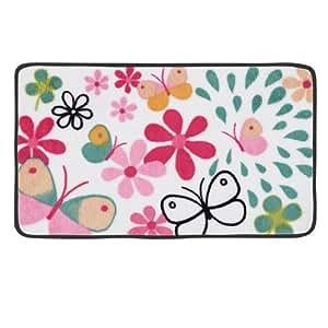 Tapis de bain Papillon - Multicolore - DLP