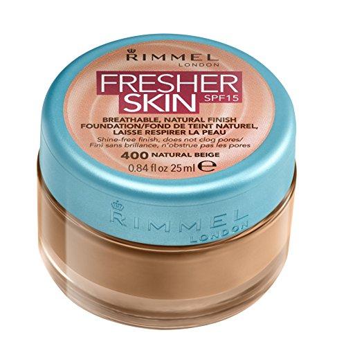 Rimmel London Fresher Skin SPF 15 Breathable Natural Finish Foundation - 400 Natural Beige