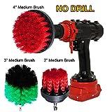 OxoxO Drill Brush - 2 '3' 4 'Bohrmaschine Attachment Medium Stiffness Scrub Scrubbing Bürste für die Reinigung von Duschen Tubs Bäder Fliesenmörtel Teppich Reifen Küche