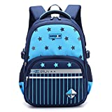 Sac à Dos Cartables d'école Primaire Idéal pour Les élèves de l'école Primaire 1-6 Garçons Filles Utilisation Quotidienne et activités de Plein air (Bleu Ciel)