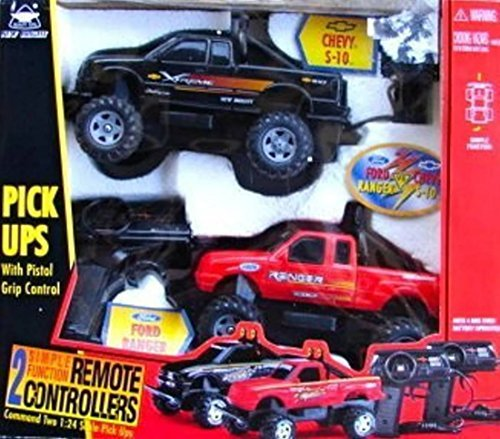 2-r-c-vehicles-chevy-s-10-and-ford-ranger-124scale-pick-ups-by-new-bright