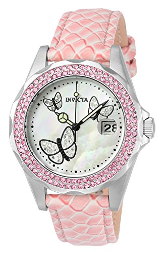 Invicta Angel Damen-Armbanduhr Analog Quarz Leder - 23548