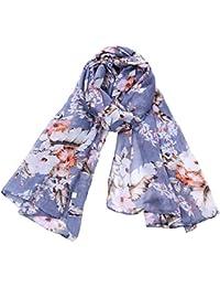XZP Primavera Verano Otoño Otoño Nueva Moda Bufanda de Seda Lady Plant Abstract Flower Print Bufanda