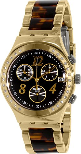 Swatch Damen-Armbanduhr Irony ycg405gc Gold Edelstahl Swiss Quarz