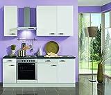 idealShopping Küchenblock mit Elektrogeräten Lagos in weiß 210 cm breit