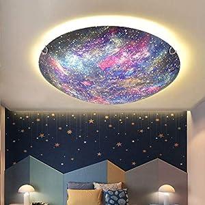 JINWELL New Planet LED Deckenleuchte Jungen und Mädchen Raum Persönlichkeit Kreative Cartoon Kindergarten Kinder Schlafzimmer Lampen Romantische Dimming Deckenlampe,Venus,Steplessdimming