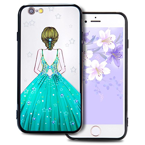 Cover iPhone 6 Plus (5.5 pollici) Case iPhone 6S Plus Custodia Spiritsun Moda Ultraslim TPU Case Elegante Carina Souple Flessibile Morbido Silicone Copertura Perfetta Protezione Shell Paraurti Custodi Vestito Blu di Acqua