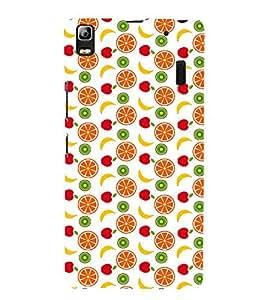 Fabcase fruits healthy diet natural oranges red apples bananas Designer Back Case Cover for Lenovo K3 Note :: Lenovo A7000 Turbo