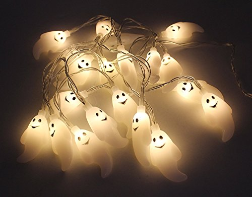 ated LED Fairy String Lights 3D Ghost Halloween Decoration Lights 2m 20LED (Halloween Ghost Lights)