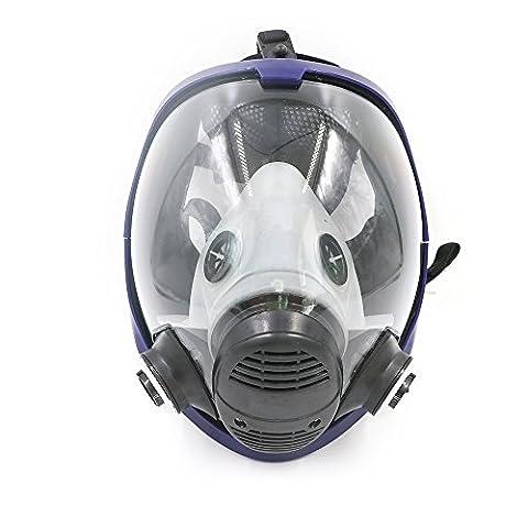 Pièce pleine Super visionnage Masque à gaz Chimique Bio Masque Vapor Cartouche filtre respiratoire Masque de protection