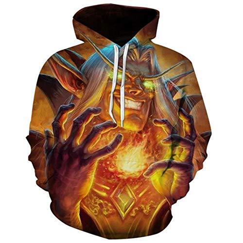 Erwachsene Hoodie Für Kostüm Elf - CJF123 Sweatshirt Halloween Horror Pullover 3D Print Teufel Geist elf Unisex beiläufige beiläufige Hoodie Sweatshirt Cosplay kostüm, XL