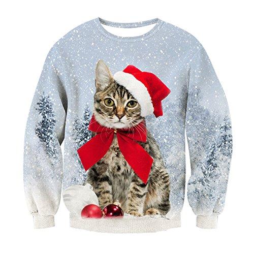 *Weihnachtspullover Katze 3D*
