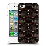 Head Case Designs Offizielle Assassin's Creed Schwarz Und Gold Kolonne Odyssee Muster Ruckseite Hülle für iPhone 4 / iPhone 4S