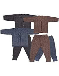 BabyBlossom Unisex Front Open Kids Thermal Top   Pyjama Set (Pack Of 3) ( fadd7a9fe