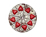 Luxury 10 inch Chocolate Pizza 10 with Hearts