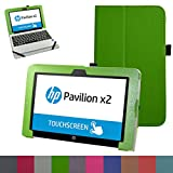 HP Pavilion x2 10.1 Funda,Mama Mouth Slim PU Cuero Con Soporte Funda Caso Case para 10.1