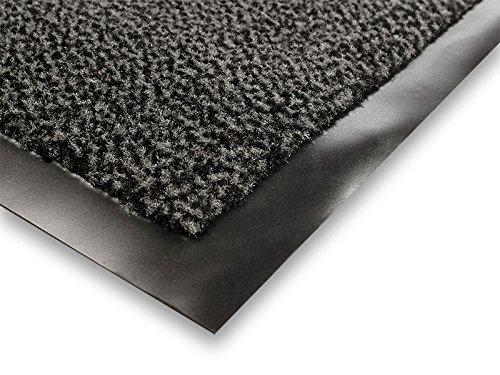 casa pura® Premium Fußmatte / Sauberlaufmatte für Eingangsbereiche   Fußabtreter mit Testnote 1,7   Schmutzfangmatte in 8 Größen als Türvorleger innen und außen   anthrazit – grau   60x90cm - 2