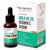 Dr. Sheth's Amla VC20 20% Vitamin C Serum (Vegan) With 0.5% Ferulic Acid, 1% Vitamin E And 1% Sodium Hyaluronate For Glowing