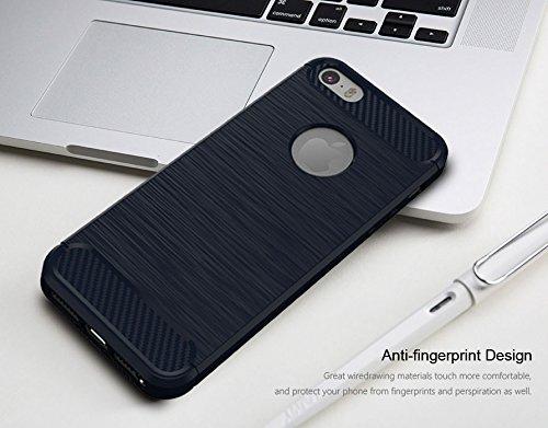 "iPhone 6S / 6 Hülle Schwarz , ivencase Luxus Silikon Handyhülle Schutzhülle TPU Case Backcover Bumper Slimcase Etui Tasche für iPhone 6S / 6 4.7"" darkblue"