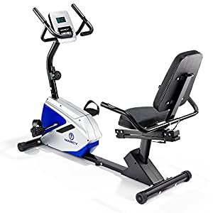 Marcy Azure RB1016 Recumbent Exercise Bike - Black/White/Blue, One Size