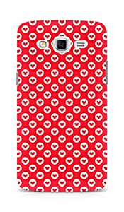 Amez designer printed 3d premium high quality back case cover for Samsung Galaxy Grand 3 (Heart Pattern6)