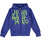 JOHN GALLIANO Blue Graffiti Print Zip Hoody