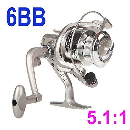 preadvisor (TM) 6BB roulements à billes gauche main droite interchangeable Poignée pliable moulinet spinning de pêche SG30005.1?: 1pour les sports de plein air