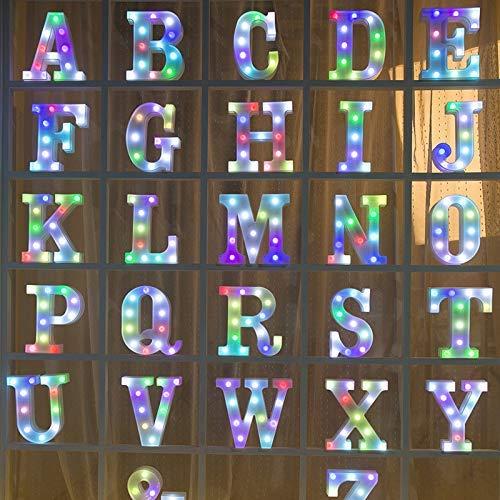 Brief Zeichen dekorative LED Alphabet 7 Licht bunte Lampe batteriebetriebene Tisch Wanddekorationen für Hochzeit, Geburtstag, Home Kid Wohnzimmer Dekor (And) ()