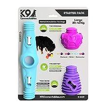 K9Connectables - Starter Pack, Misura Grande, Blu/Viola/Rosa