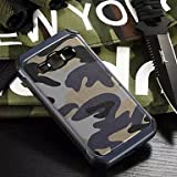 Handy schützen, Tarnung PU-Leder stoßfest weichen TPU Silikon-Kasten für Samsung-Galaxie j1 / j2 / J5 / j7 für Samsung (Farbe : Blau, Kompatible Modellen : Galaxy J1)