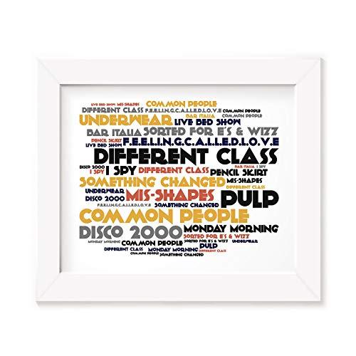 LISSOME Art Studio Pulp Kunstdruck Poster - Different Class - Ungerahmt Kunst Druck Lyrisch Plakat -