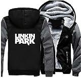 Herren Winter Kapuzen pullover Hoodie LP Jacke Zip Pulli Plus Samt Dick Sweatshirt Rock Band Kleidung für Cosplay Kostüm