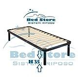 Bed Store Rete A DOGHE Strette Singola per Letto Singolo 80X180 con Piedi H35 Ortopedica Resistente
