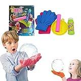kamiustore Bolle magiche con guanti - set bolle rimbalzanti con 2 guanti