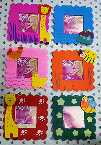 CraftDev Wooden cute Animal Design photo frame for birthday return gift ( SET OF 6 )