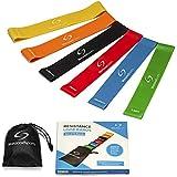 Starwood Sports Fasce Elastiche di Resistenza - Set da Bande Fitness Premium Allenamento - Perfette per Migliorare Forza e Mobilità, Yoga, Pilates o per Riabilitazione