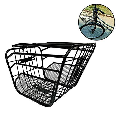 Fahrrad Ablagekorb Vordergriff Korb Vorne Fahrradträger Für Rennrad Mountainbike Faltrad Elektroauto Eisen Schwarz 32 22   24 cm
