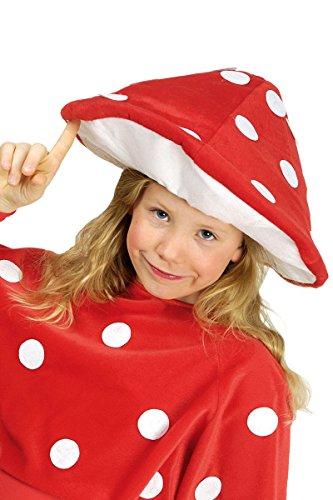 Kostüm Zubehör Fliegenpilz Hut für Kinder zu Karneval Fasching
