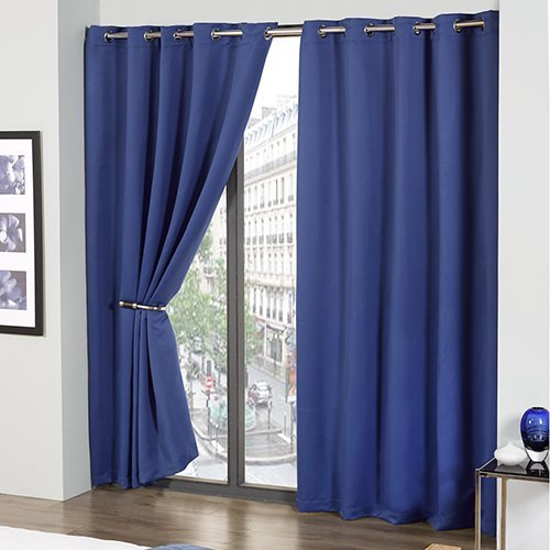 Curtains Ideas curtains 54 x 72 : Tony's Textiles Thermal Blackout Supersoft Eyelet Ring Top Ready ...