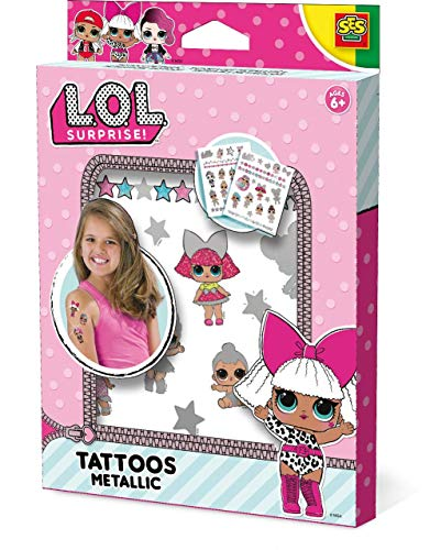 SES Creative Surprise L.O.L. Tatuajes metálicos, Color Bunte Tattoos (14192)