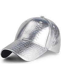 Männer Frauen Baseball Caps Sport Im Freien Pu-Leder Anpassen Hüte Visor