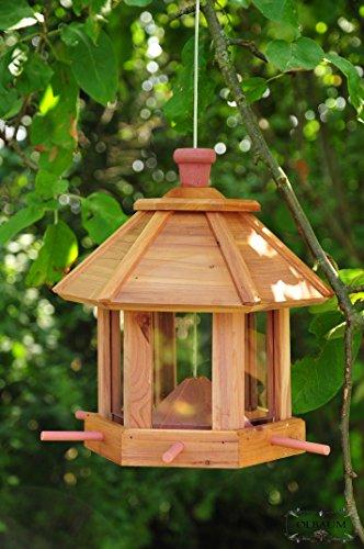 Vogelhaus,Futterhaus-Futterstation, *ohne / mit Beleuchtung LED-Leuchte Garten,wetterfest HELLBRAUN LASIERT robust,stabil,Vogelhäuser Vogelhaus,Futterhaus-Futterstation+Vogelhaus