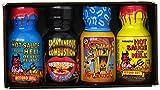 Xtreme Heat Mini Hot Sauce: Colección de 4 Mini Salsas Picantes Extremas