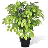 vidaXL Birkenfeige Ficus benjamini Kunstpflanze Baum künstliche Zimmerpflanze