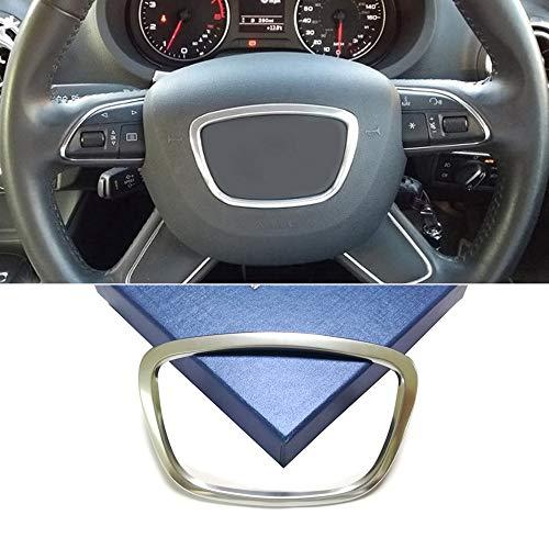 Volante Etiqueta Engomada Pegatina Adhesivo Emblema Trim para A3 A4 A6 A7 A8 B6 B8 Q3 Q5 C7 Q7(Plata)