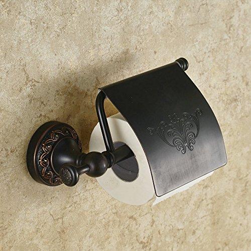 BL Ottone asciugamano rack nero continentale nero bronzo carta titolare carta igienica titolare ciondolo